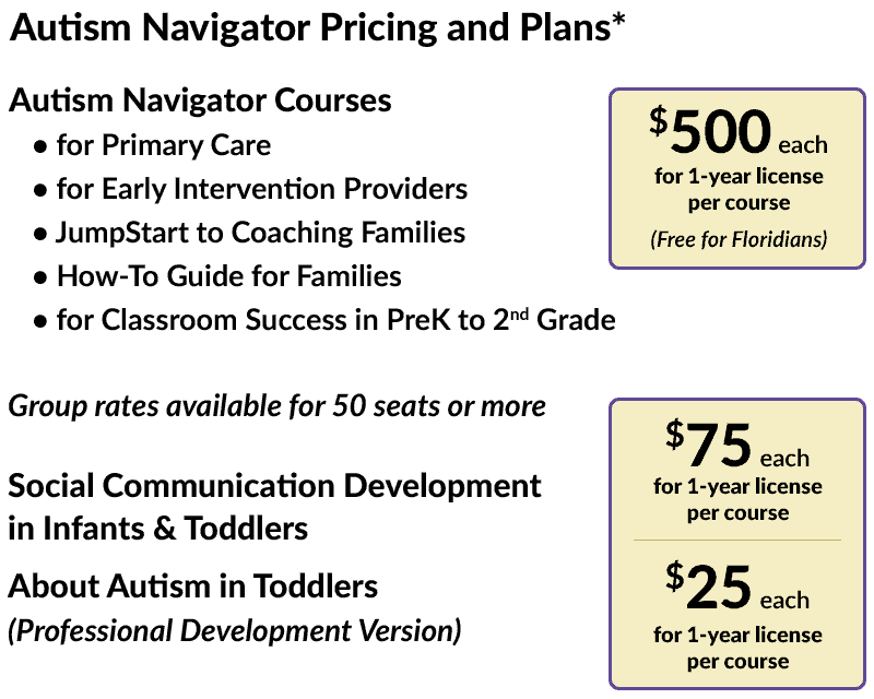Autism Navigator Pricing and Plans*