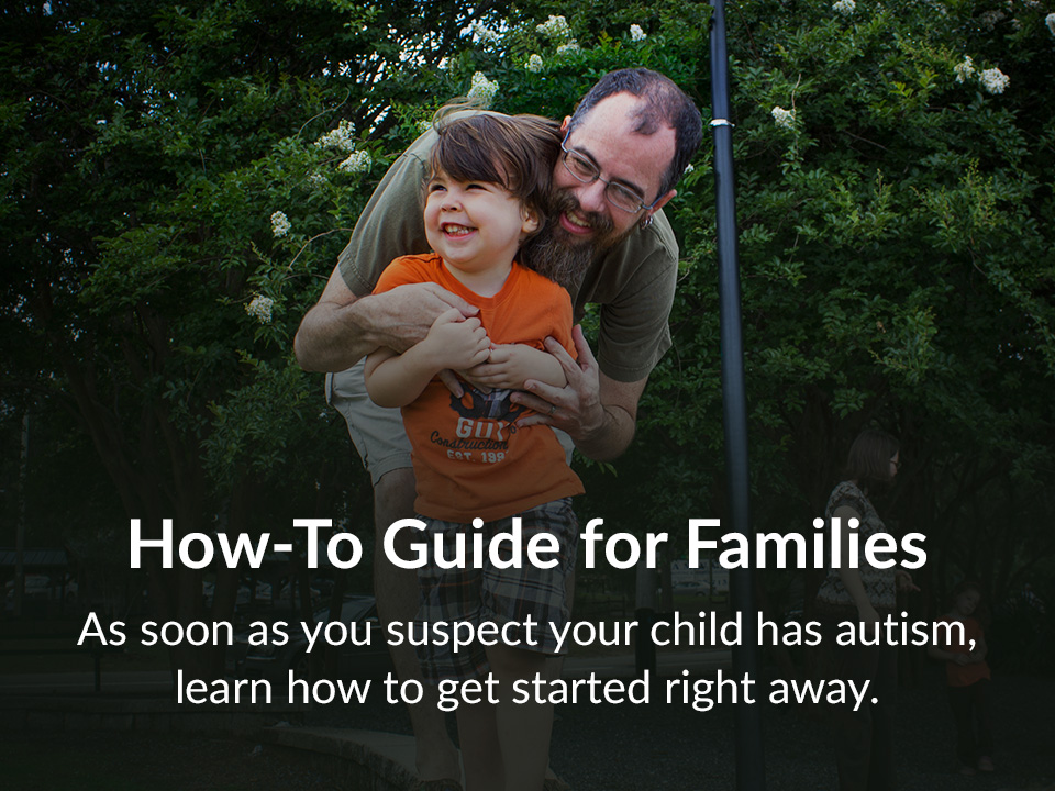 As soon as you suspect your child has autism, learn how to get started right away.